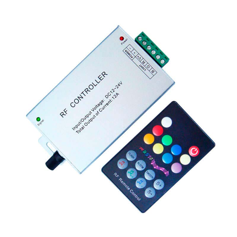 Controlador RGB + AUDIO + RF mando a distancia